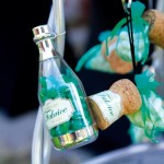 Bouteille de champagne en plexi