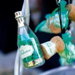 Bouteille de champagne en plexi transparente