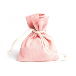 Lot de 6 sacs en lin rose 30g