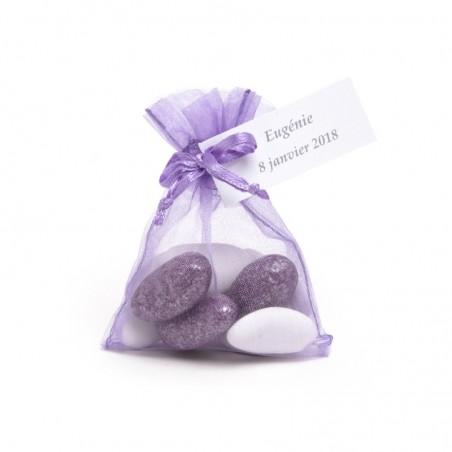 Sac de 10 Sachets organdi violet