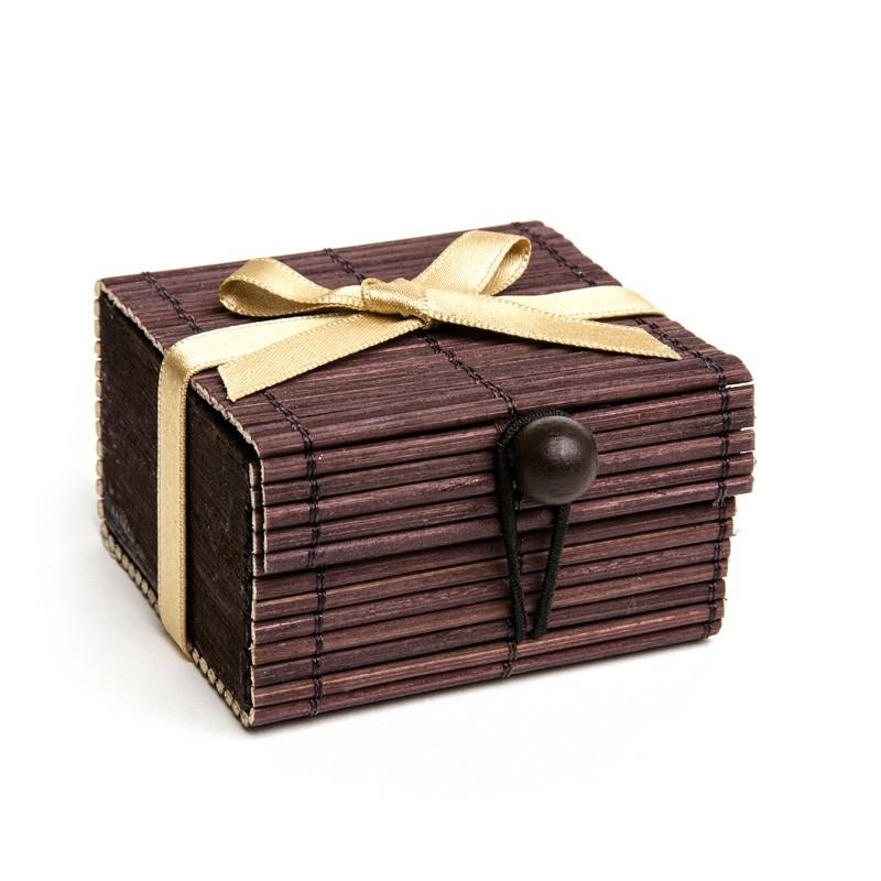 Boite à secrets chocolat (en bambou)