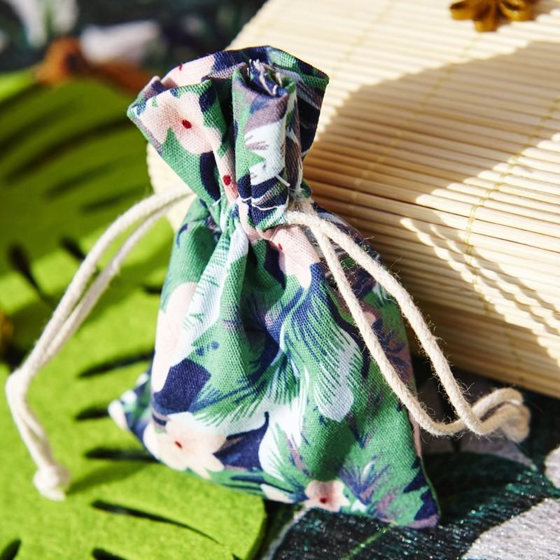 Lot de 4 sacs en tissu tropical 30g