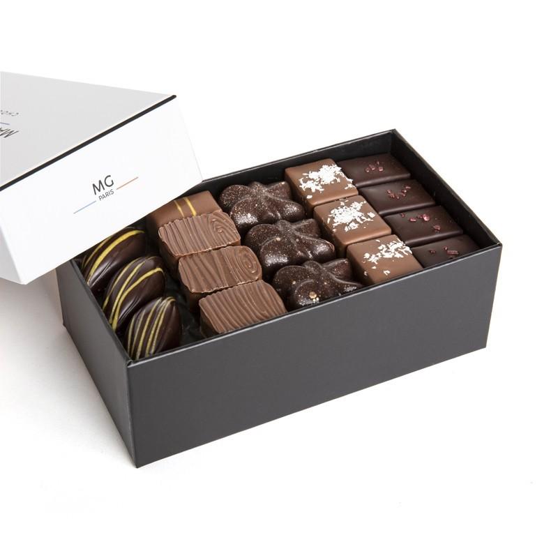 Ballotin 500g, 45 chocolats pralinés, 3 étages