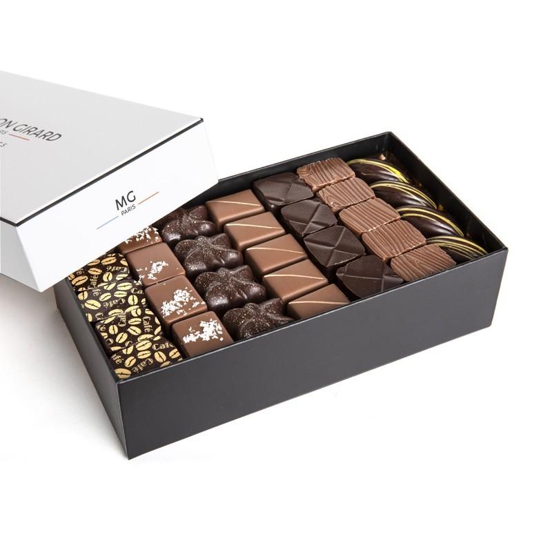 Ballotin 1kg assorti, 92 chocolats, 3 étages