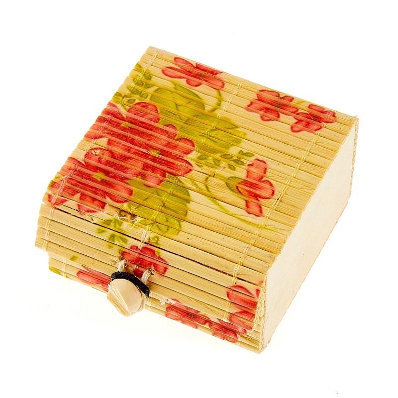 Boite dragées en bambou fleur