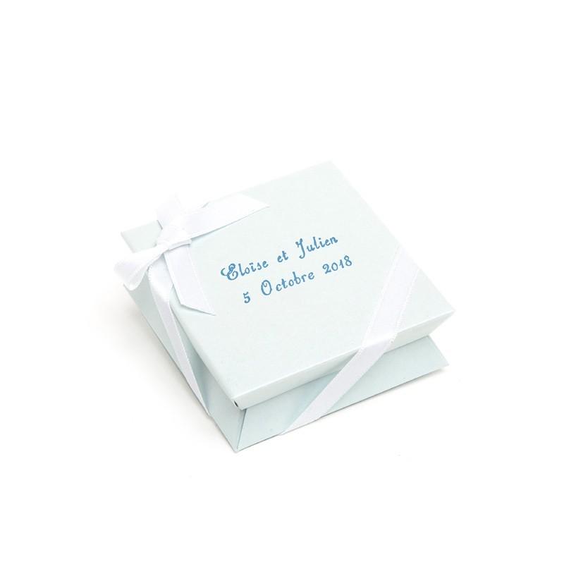 Mini-boîte bleue ciel à dragées 40g