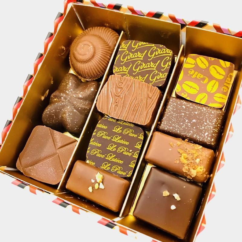 Coffret Mosaïque, assortiment Chocolat Girard