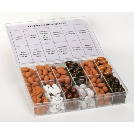 Coffret Sensations chocolats et confiserie 12 cases
