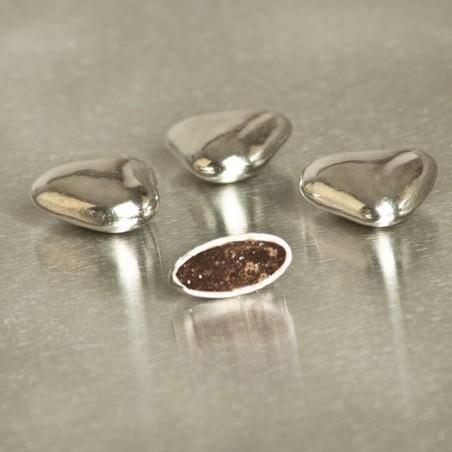 Mini-coeurs chocolat argent 250g