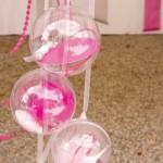 Boule plastique 8 cm pour dragées