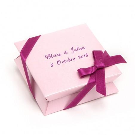 Mini-boîte rose à dragées 40g