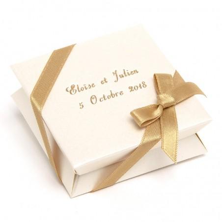 Mini-boîte ivoire à dragées 40g