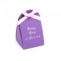 Pochette à dragées iris parme 50g