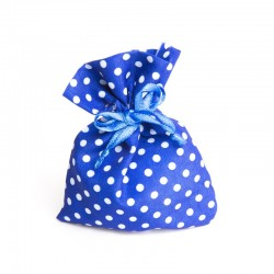 Sachet à dragées en tissu bleu