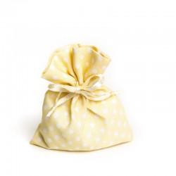 Sachet à dragées en tissu ivoire